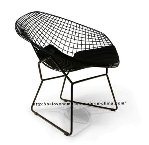 Replica Modern Dining Restaurant Knock Down Metal Wire Diamond Chair pictures & photos