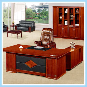 China Luxury Solid Wood Office Furniture Base Executive Office Table