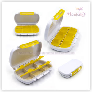 6 Grids Oval Plastic Medicine Box pictures & photos
