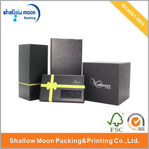 Customized Cheap Rigid Paper Gift Packaging Box with Window/Hot Stamping (QYCI006)