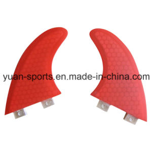Red Colour Glassfiber Honeycomb Surf Fin for Sale