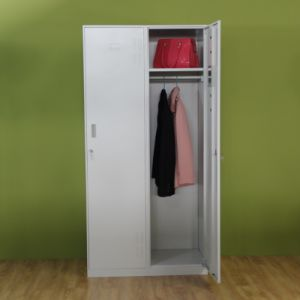 Steel Uniform Locker 2 Door Workwear Closet Locker Steel Vent Locker