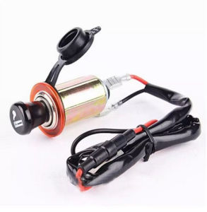 Car Motorcycle Motorbike 12V Cigarette Lighter Power Plug Socket with 60cm Cord pictures & photos