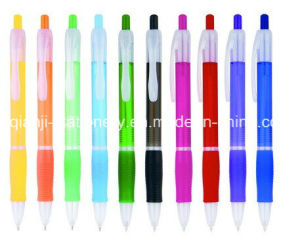 Plastic Slim Transparent Ball Pen for Promotion (P3009C) pictures & photos