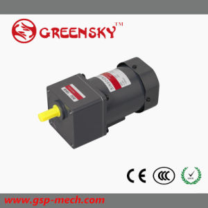 Energy Saving AC Reversible 60W Helical Geared Motor with Gear Head