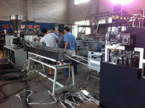One for Four Streams PVC Edge Banding Production Line pictures & photos