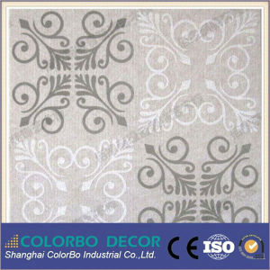 Eco Friendly E0 Class Polyester Fiber Ceiling Acoustic Panel pictures & photos