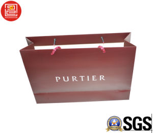 High-End Artcoated Paper Bag, Shopping Bag, Carrier Bag with Matt Lamination and Logo Stamping for Export