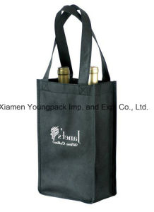 Eco Friendly Reusable Non Woven 2 Bottle Wine Tote Bag pictures & photos