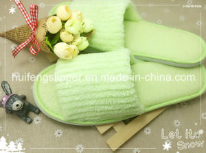 Disposable Coral Fleece Hotel Slipper/Hotel Amenity Slipper/Indoor Slipper/Bathroom Slipper