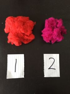 2.22D*28mm Red Colored Polyester Staple Fiber