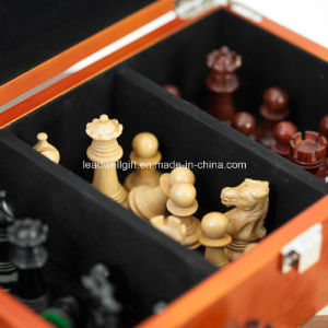 Luxury Chess Piece Quality 15.75 Inch Wooden Chess Board pictures & photos