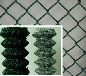 Plastic Coated PVC Coated Chain Link Fence High Quality in Low Price pictures & photos