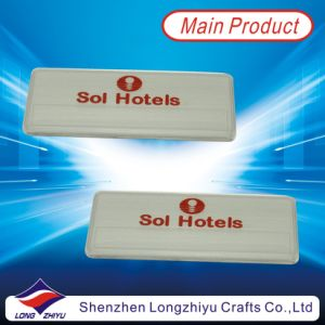 Fashionable Professional Hotel Enamel Name Badge Design Manufacturer with Magnet pictures & photos