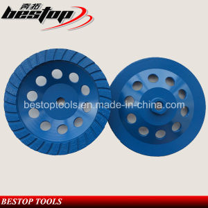 D180mm Cup Wheel with M16 Threaded for Concrete Dry Grinding pictures & photos