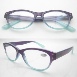 Fashionable Slim Injection Design Reading Glasses with Spring Hinge pictures & photos