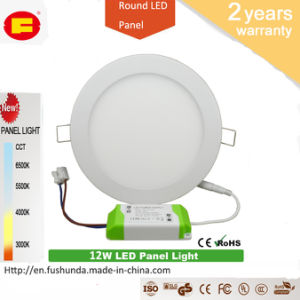 12W LED Panel No Flicker LED Bulb with Round Shape
