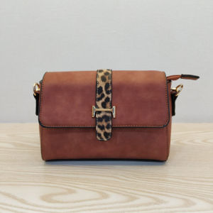 34aad978c China Small MOQ Brand Designer Brown PU Leather Ladies Sling Bags ...