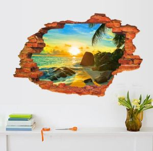 Hot Sale 3D Floor Beach Landscape Wall Stickers Mural Decals Made in China  sc 1 st  Made-in-China.com & Hot Sale 3D Floor Beach Landscape Wall Stickers Mural Decals Made in ...