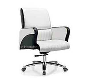 High Quality Genuine Leather Medium Back Office Manager Chair (HF-B1517) pictures & photos