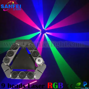 Professional 9 Heads Green Matrix Moving Head Spider Laser Beam Light