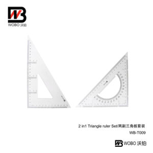 2 in 1 China Triangular Ruler Set for Office Stationery