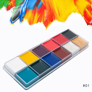 12 Color Face Paint For Body And Face