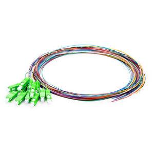1.5M 12 fiber SC//APC 9//125 Single-mode Fiber Optical Pigtail Cable PVC