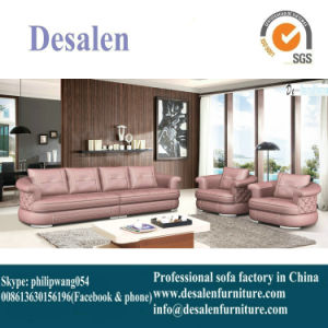 1+1+3 Style New Design Genuine Sectional Leather Chaise Lounge (8056)