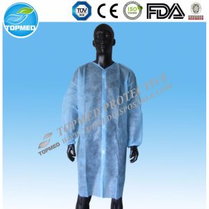 Nonwoven Lab Coat, Cheap Disposable Lab Coat with Factory Price pictures & photos