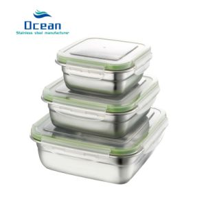 0a846b29a3db Korean 304 Stainless Steel Square Sealed Lunch Box