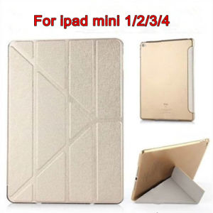 Smart Silk Texture Flip Stand PU Cover Case for iPad Mini 1/2/3/4 Case