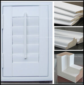 89mm Louver, L Frame, Wood Plantation Shutter pictures & photos