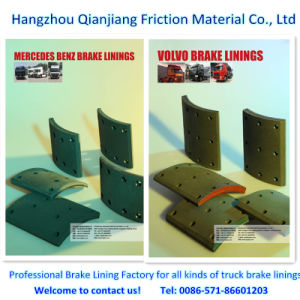 Truck Brake for Mercedes Benz, Volvo Brake Lining