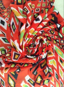 Spun Polyester Voile Fabric for Headscarf