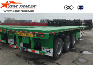 40-60ton Flatbed Container Semi Trailer pictures & photos