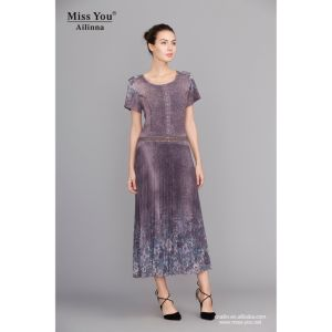 Miss You Alinna 100957 Crumple Chiffon Long Dress Distributor Beautiful Dress pictures & photos