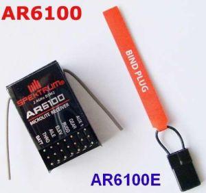 Spektrum AR6100 2 4G 6CH DSM2/JR Receiver DSM2 DX6I DX7 DX9 DSX7 DSX9