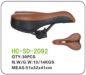 Double Color Leather MTB Saddle (SD-2092) pictures & photos