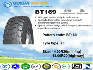OTR Tire, off-The-Road Tire, Radial Tire Bt169 14.00r20