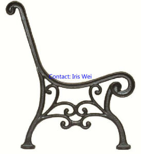 Cast Ductile Iron Bench Ends (BC. B-A9)