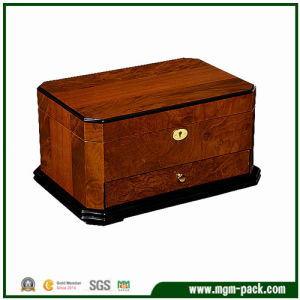 High Glossy Finish Luxury Brown Wood Jewellery Box pictures & photos
