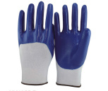 3/4 Nitrile Coated Work Gloves pictures & photos