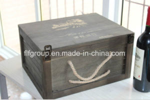 Popular Design Customized Solid Paulownia Wood Box for Wine Storage pictures & photos