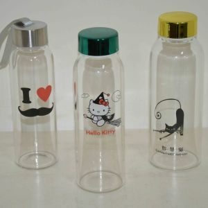 Promotional Glass Drink Bottle, 350ml-550ml Sports Drinking Bottle, Water Bottle pictures & photos