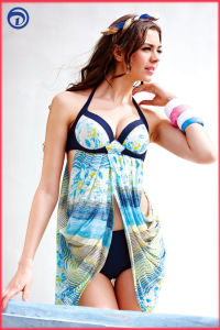 Fashion Flower Printed Beach Bikini Swimwear for Summer