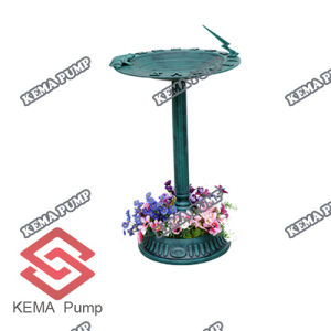 China Plastic Pp Sundail Bird Bath With Planter China Plastic