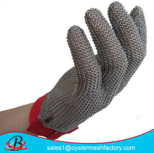 Protection, Slaughter, Cleaning, Meat and Poultry Processing. Stainless Steel Safety Gloves