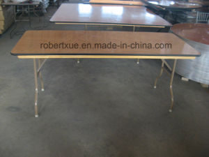 Plywood Round Banquet Folding Table Manufacture pictures & photos