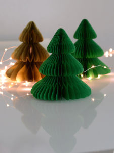 green tissue paper honeycomb ball christmas tree decoration in events and supplies